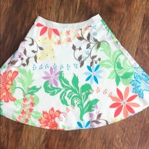 Talbots Floral A-line Circle Skirt Size 6P
